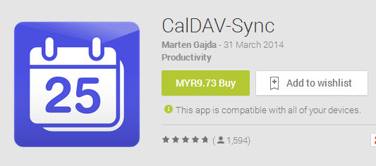 Caldav Google Play