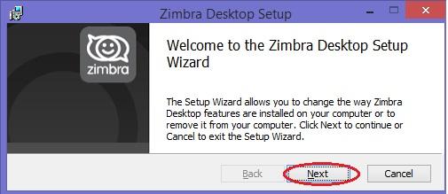 ZimbraDesktop1Install